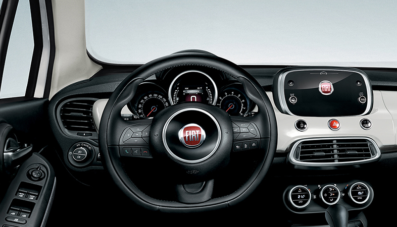 fiat 500x interior photos. Black Bedroom Furniture Sets. Home Design Ideas
