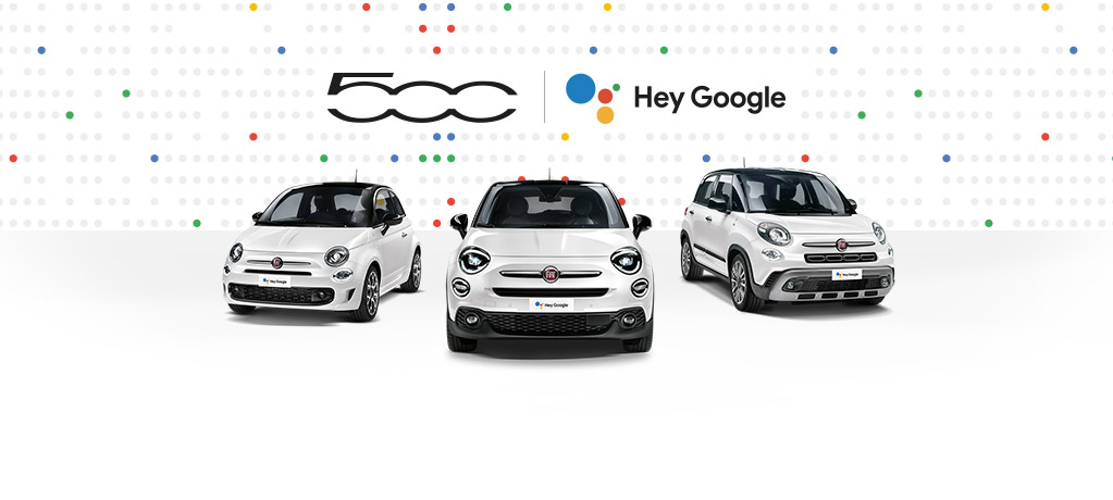 Fiat 500 Family Hey Google