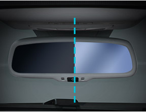 ELECTROCHROMIC INTERNAL REARVIEW MIRROR