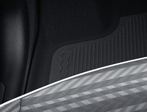 FRONT/REAR FLOOR MATS WITH 500 LOGO