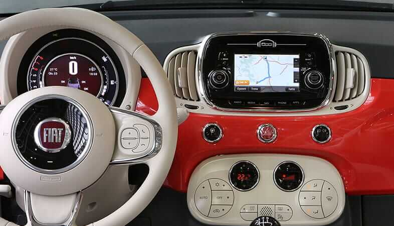 Image gallery www fiat 500 for Interieur fiat 500x