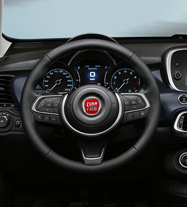 TECHNO-LEATHER STEERING WHEEL